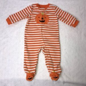 Carter's Infant Pumpkin/Halloween Footed Onesie 6m